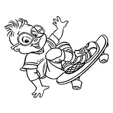 alvin chipmunks halloween coloring pages - photo#19