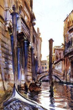 john singer sargent side canal in venice painting 9422 John Singer Sargent Watercolors, Beaux Arts Paris, Art Aquarelle, Paintings I Love, Art Moderne, Grand Tour, Whistler, Pics Art, American Artists