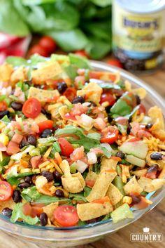 Large Bowl of Vegetarian Taco Salad with Pico de Gallo