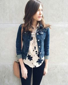42 Gorgeous Spring Outfits with Denim Jacket Casual Outfits, Cute Outfits, Fashion Outfits, Womens Fashion, Ladies Fashion, Fashion Ideas, Looks Jeans, Trendy Swimwear, Spring Outfits