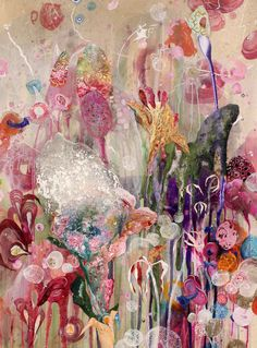 'All things Grow II', Amanda Krantz, Melbourne artist Contemporary Australian Artists, Australian Painting, Contemporary Art, Art Amour, Art Beat, Jolie Photo, Arte Floral, Beautiful Paintings, Love Art