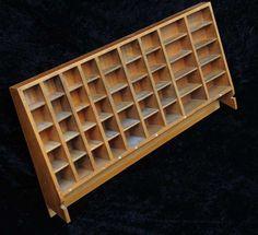 Aufsatz für Setzkastenschrank Schubladenschrank Druckereischrank Setzkasten alt. | Antiquitäten & Kunst, Alte Berufe, Buchdrucker & Buchbinder | eBay!