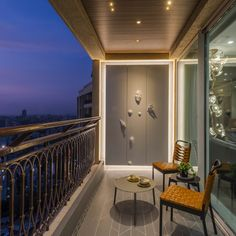 Play Of Material And Textures Leads To A Modern And Luxurious Residence Designed By HS Desiigns - All About Balcony Modern Balcony, Small Balcony Design, Small Balcony Decor, Interior Balcony, Apartment Balcony Decorating, Home Building Design, Home Room Design, Terrasse Design, Balcony Flooring