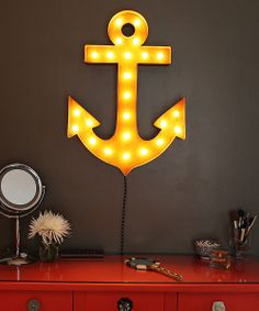 Love this anchor marquee. #diy