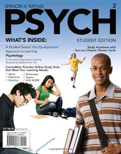 PSYCH (with Review Cards and Psychology CourseMate with eBook Printed Access Card) $50.00