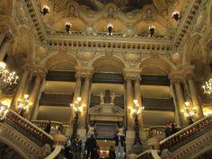 Paris, France - Ope'ra Garnier 1862, main staircase
