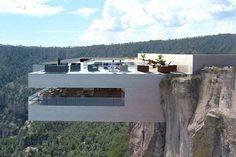 <p>A cientos de pies sobre las Barrancas de Cobre en México, esta construcción minimalista en cemento dirige su vista a las Cascadas de Basaseachi, las más altas de ese país. Fue diseñada por la compañía Tall Arquitectos, con dos niveles, uno para el bar, y el otro para cenar. Tiene incluso una piscina para 'enfriarse' después de semejante experiencia. Foto: instagram.com/tall_arquitectos/ </p>