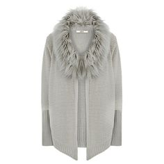 14c15e8bacd9d7 Buy Oasis Faux Fur Trim Drape Cardigan Online at johnlewis.com Drape  Cardigan