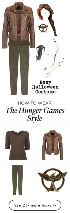 """Easy Halloween Costume"" by cora-mccutcheon on Polyvore featuring 7 For All Mankind, Armani Collezioni, maurices, Halloween, katniss and easyhalloweencostumes"