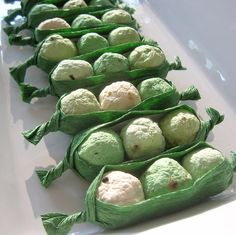 pea pod seed bombs - adorable baby shower favors :)
