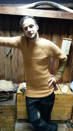 We have few sources for knitted tunics. But, this is a great clothes that would be warm, and for protection. price 90-100 euros.  You can order now. production time - 1 month. knitting with one needle for warrior for sailors for cool weather