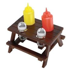 Picnic Table Condiment Set for RV Backyard Camping w/ Containers in Sporting Goods | eBay