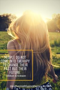 People do not come into therapy to change their past but their future - Milton Erickson Quote