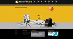 site desenvolvido para a produtora de áudio Desert Studio