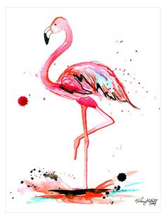 Pink Flamingo by Kelsey McNatt (Canvas) by Bashian Home at Gilt