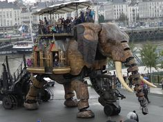 Les Machines de l'Île (Nantes, France): A mechanical elephant that can walk, move, and shoot water from its trunk! It's also an observation deck!