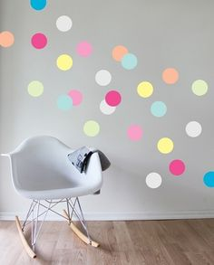 Littleville: cute things for kids. Shown here is the Gelato Dots Wall Decal.