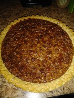 Utterly Deadly Southern Pecan Pie The secret to this rich pie is cooking the sugar and corn syrup first. It is definitely not diet food! I bake this pie for 45 minutes according to my oven but you may need to bake longer. Pecan Recipes, Pie Recipes, Baking Recipes, Whole Food Recipes, Dessert Recipes, Desserts, Flan, Southern Pecan Pie, Recipes