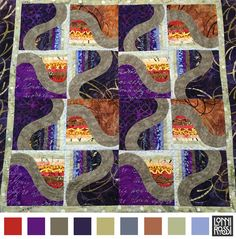 Fire&Ice Quilt color palette by Lonni Rossi