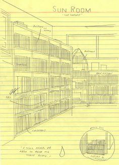 hand drawn bookshelf by Simon Hanselmann #drawing #art