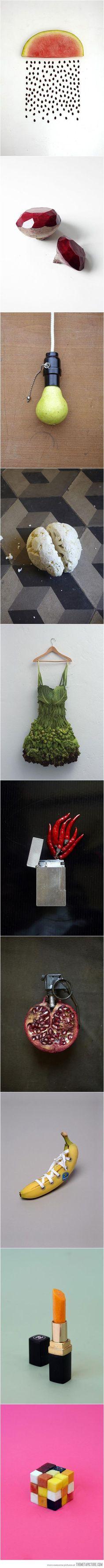 Creative food art... brilliant ideas and execution!