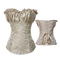 Elegant Beige Satin Classic Lolita Corset – EUR € 24.74