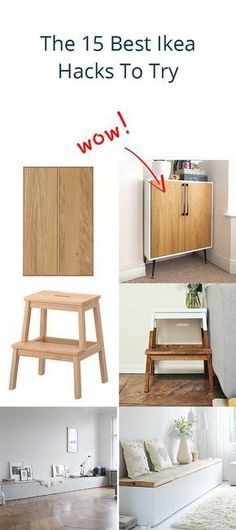 15 Best Ikea Hacks To Try: Our 15 favorite hacks that transform Ikea products into chic items for your home.The 15 Best Ikea Hacks To Try: Our 15 favorite hacks that transform Ikea products into chic items for your home. Ikea Furniture Hacks, Furniture Makeover, Furniture Ideas, Ikea Makeover, Living Furniture, Bedroom Furniture, Mydal Ikea, Ikea Grundtal, Ikea Closet Hack