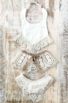Handmade Boho Baby Bibs & Capelet | ArrowandMuse on Etsy