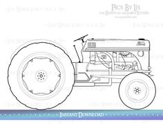 1951 Ford 8N Tractor Coloring Page comes with the Fullertown Country Store 1954 Set. By Lisa Marie Ford. Available as an Instant Download for printing your own coloring pages via the DownontheFarmStudio Etsy Shop.
