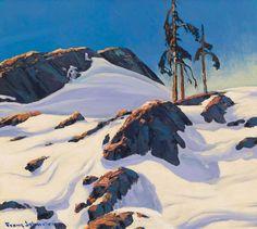 """North,"" Frank Hans (Franz) Johnston, oil on board, 17 x 19"",  private collection."