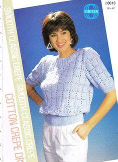 Sirdar 8613 ladies jumper vintage knitting pattern Listing in the Ladies DK,Patterns,Knitting & Crochet,Crafts & Sewing Category on eBid United Kingdom