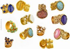 Daily inspirations - love these YSL rings