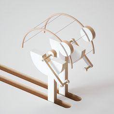 Kinetic sculptures on Behance Kinetic Toys, Kinetic Art, Simple Card Designs, Mechanical Art, Art Story, 3d Artwork, Tecno, 3d Design, Art Direction