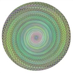 Multicolor fractal round paper coaster $1.45 *** Multicolor fractal design - coaster