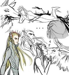 marty-mcfly: thranduil with the elk
