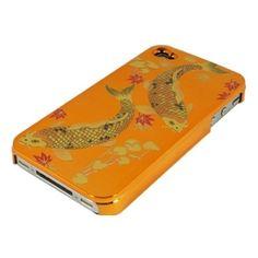Orange Classical Nishikigoi for iPhone4/4S