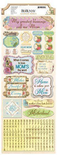 Bo Bunny - C'est la Vie Collection - Cardstock Stickers - Love You Mom