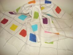 Felted baby blanket in paintbox design Textile Products, Felt Baby, Vibrant, Textiles, Blanket, Future, Chic, Natural, Design