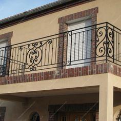Garde-corps en fer forgé Balcon terrasse traditionnels : Modèle GCT04 Barreaux…