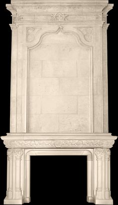 See our Stone Fireplace Mantel & Overmantel Image Gallery in real furnished homes to help you decide which stone mantel or kitchen hood will fit yours. Stucco Fireplace, Stone Fireplace Mantel, Fireplace Screens, Marble Fireplaces, Fireplace Surrounds, Mantels For Sale, Brick Room, Mantel Surround, French Walls