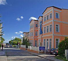 Das Seehotel Villa Möve auf Usedom nur wenige Schritte von der Promenade und dem feinen, weißen Sandstrand entfernt.