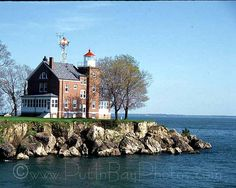South Bass Island, Ohio, tour of the lighthouse, located one block from the Miller Ferry Lime Kiln Dock