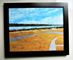 "Seneca Lake (ORIGINAL ACRYLIC PAINTING) 16"" x 20"" by Mike Kraus - art finger lakes ny upstate new york winery barns farm rochester syracuse"