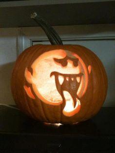Super Mario Bros Boo Pumpkin Carving on Global Geek News.