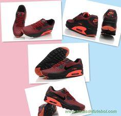 the latest 6a7e0 1ca48 loja futebol Vermelho Escuro Preto 725222-600 Nike Air Max 90 Ultra BR  Masculino-Mulheres
