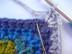 It's not easy coming up with a new granny square design as pretty much every variation probably already exists somewhere in the world. Crochet Blankets, Knit Crochet, Crochet Patterns, Colours, Quilts, Knitting, Tattoos, Crafts, Tatuajes