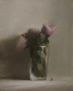 Pint of Flowers by Neil Carroll Oil ~ 10 x 8