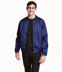 Bomber Jacket | Dark blue | Men | H&M US