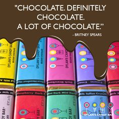 """""""Chocolate. Definitely chocolate. A lot of chocolate."""" - Britney Spears #quote #chocolate"""