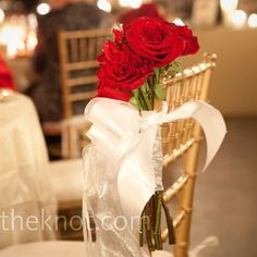 Wedding receptions decorated with red roses | Romantic Red Rose Wedding
